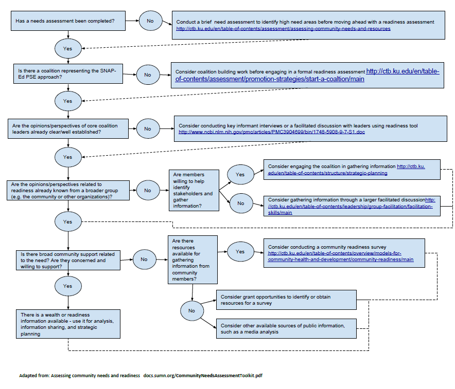 Needs and Readiness Assessment Flow Chart